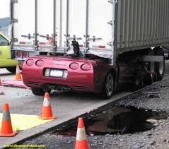 truck car accident corvette u0027s top chopped off