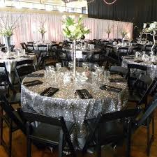 sequin table runner wholesale factory directly wholesale wedding decorative silver glitter round