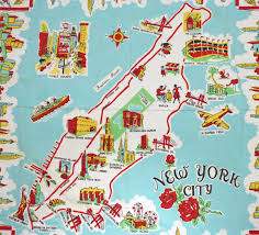 A Map Of New York State by Nyc Cartoon Map 1950 Jpg 1200 1088 Maps Pinterest York