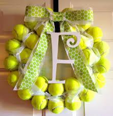 tennis ball wreath crafts pinterest tennis wreaths and