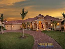 One Story Luxury Home Floor Plans Spanish Style Home Designs With Court Yard Mediterranean House