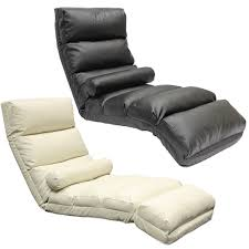 Chaise Lounge Leather Floor Lounger Chaise Longue Leather Eff Adjustable Lounge Armchair