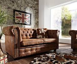 Esszimmerst Le Antik Leder Sofa Chesterfield 160x92 Cm Braun Antik Optik 2 Sitzer Möbel Sofas