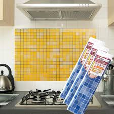 Sticker For Tiles Kitchen - sales kitchen oil resistant wall sticker mosaic tile