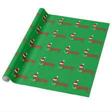 green christmas wrapping paper dachshund christmas wrapping paper zazzle