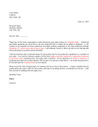 thank you letter after interview template best business template