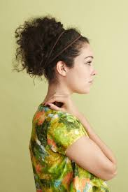 stacked haircuts for curly hair embellished messy bun naturally curly hair awesome hairstyles