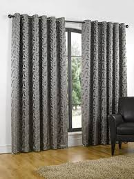 Steel Grey Curtains Erin Steel Grey Ready Made Curtains 66 X 90 168cm X 229cm With