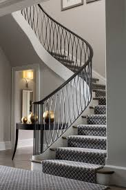 contemporary stair runners staircase transitional with