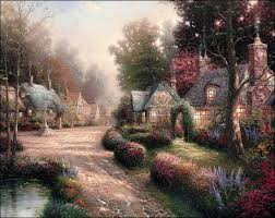kinkade home interiors kinkade cobblestone paper and canvas prints by