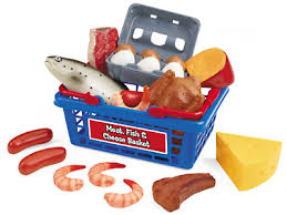 meat and cheese baskets let s go shopping meat fish cheese basket at lakeshore learning