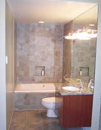 small bathroom with bath and shower kahtany