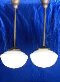 Schoolhouse Pendant Lighting by Pair Antique Schoolhouse Pendant Ceiling Lights Vintage Lighting