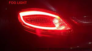 fiber optic tail lights porsche 987 boxster cayman fiber optic led tail lights in red
