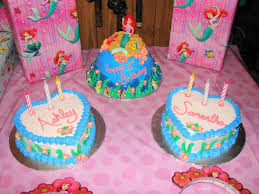 Twins Little Mermaid Birthday Cakes Cakecentral Com