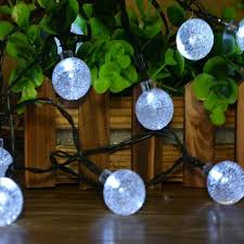 solar power 2 5cm big size string lights 5m 30