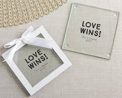wedding favor coasters personalized wins glass coaster set of 12 my wedding favors