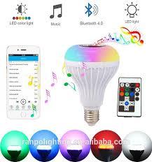 Led Light Bulb Speaker Color Changing Smart Bluetooth Light Bulb Speaker 12w Rgb Music
