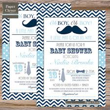 mustache and bow tie baby shower invitations mustache and bow tie