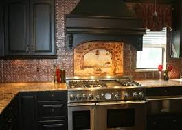 Tin Tiles For Backsplash In Kitchen Tuscan Kitchen Backsplash Tile Mural Tuscan Kitchen Backsplash