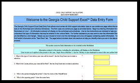 complete a child support worksheet family lawyer gainesville