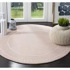 light pink wool rug safavieh bella contemporary handmade light pink ivory wool rug 5