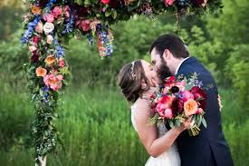 wedding arches chicago chrissy and s beautiful outdoor tent wedding with flower