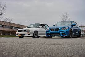 bmw e30 m3 bmw m2 vs e30 m3 photoshoot