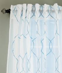 Sheer Embroidered Curtains Amour Embroidered Sheer Rod Pocket Curtain Panel Country Curtains