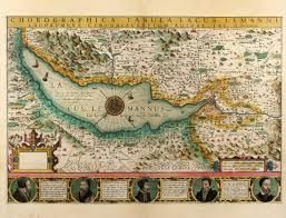 Geneva Map Chorographica Tabula Lacus Lemanni Locorumque Circumiacentium