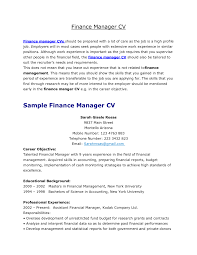 Tax Manager Resume Finance Manager Resume Resume For Your Job Application