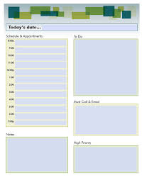 Daily Planner Template Excel Daily Schedule Planner Templates Pdf Word Excel