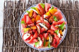 caprese salad with watermelon food done light