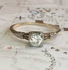art deco engagement ring 14kt gold ostby barton diamond antique