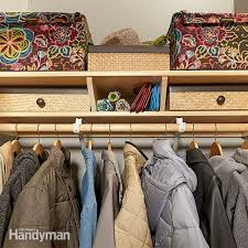 Create Storage Space With A Closet Organizers Storage The Family Handyman