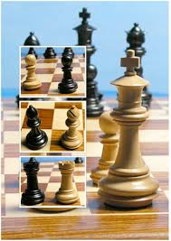 a beautiful solid wooden handcrafted chess set in ebonised wood a