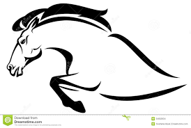 ferrari horse outline jumping horse car logo