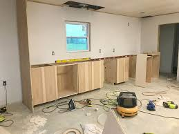diy kitchen cabinets install diy kitchen cabinets made from only plywood