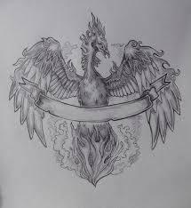 phoenix rising from ashes tattoo designs simple pictures to pin on