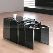 buy nest of tables smoked glass nest of 3 tables by glass tables online