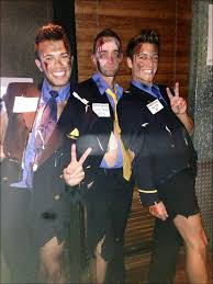 Halloween Flight Attendant Costume Guys Dressed Bloody Asiana Flight Attendants