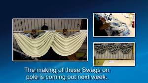 How To Hang A Valance Scarf by Preview How To Make Swags On Pole Youtube