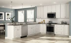 home depot custom kitchen cabinets cost hallmark base cabinets in arctic white kitchen the home