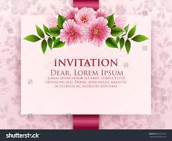 Weeding Invitation Card Wedding Invitation Card Vector Invitation Card Stock Vector