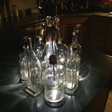 Glass Bottle Chandelier Bourbon Bottle Chandelier Bluetooth Dimmable Hand Crafted