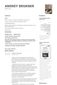 Resume Samples For Supply Chain Management by Download Logistics Manager Resume Haadyaooverbayresort Com
