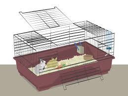 Large Bunny Cage How To Prepare A Rabbit Cage 9 Steps With Pictures Wikihow