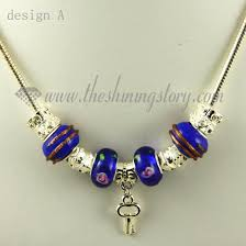 silver charm bead necklace images Silver charms necklaces with european murano glass charm beads jpg