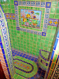 mexican tile bathroom ideas bathroom shower using mexican tiles by kristiblackdesigns