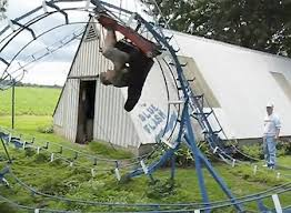 roller coaster for backyard man builds theme park style roller coaster in backyard techeblog